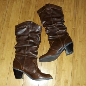 Womens brown tall boots